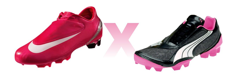 Nike e Puma com suas chuteiras rosas  5c1ed339aabee