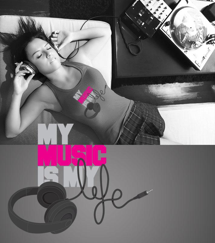 My music is my life vote na minha esta no camiseteria